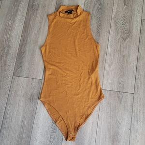 New F21 Mustard Bodysuit